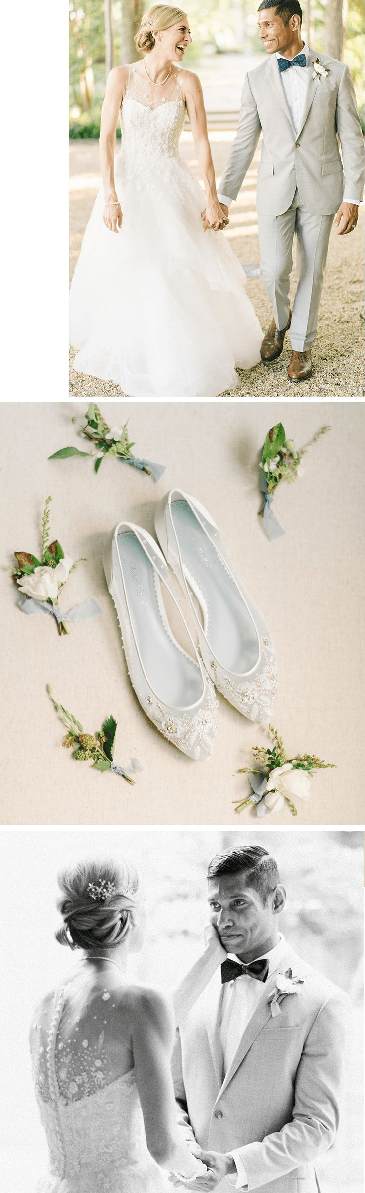 We are just as happy to see our #RealBride Lauren in our Bella Belle Adora comfortable floral beaded Cinderella wedding flats, as she was at her classic Italian style DC wedding. Wearing a beautiful and romantic Amsale wedding dress from Kleinfeld Bridal, the comfortable wedding shoe go hand in hand wit the simple wedding dress. Check out our blog to see the prettiest real bride weddings of 2018 for your italian garden style wedding inspiration.