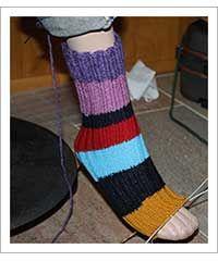 zelf sokken breien (zonder hiel)