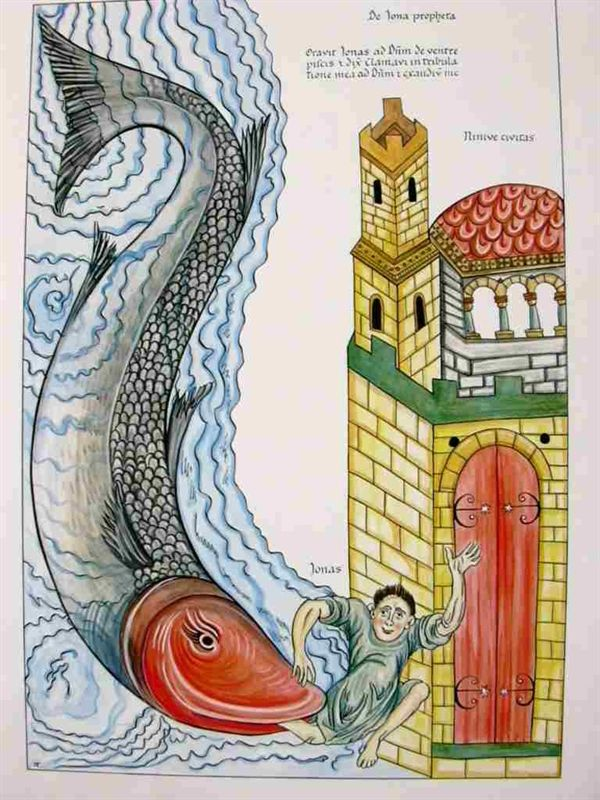 28 best images about art of the bible jonah and the for Fish in the bible