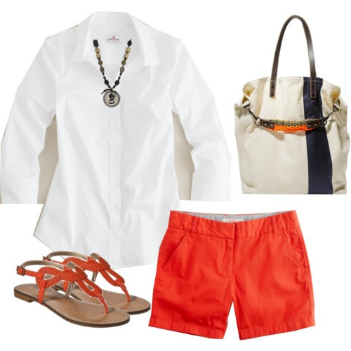 Snappy shorts outfit.