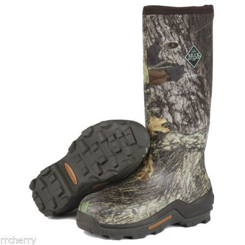 Hunting Footwear 153008: @New@ Muck Boots Woody Elite Mossy Oak Camo Premium Hunting Boot! Size: 12 BUY IT NOW ONLY: $129.99