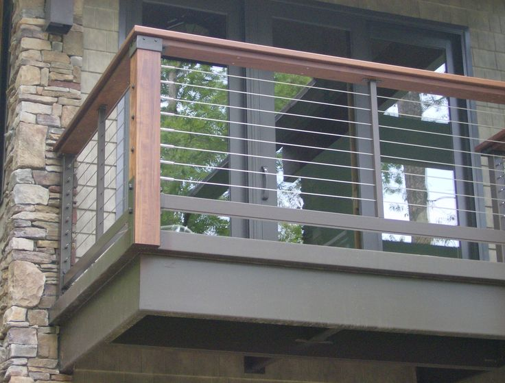 The 25 best ideas about balcony railing on pinterest for Exterior balcony railing design