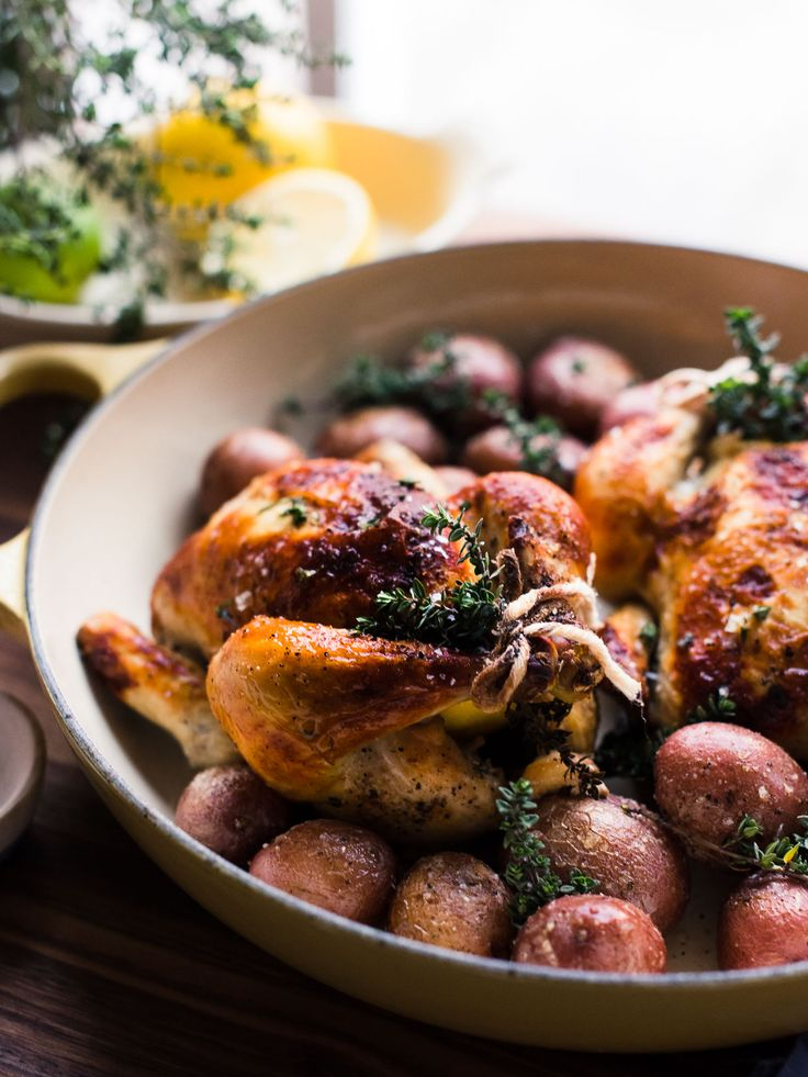 A recipe for oven roasted Buttermilk Brined Cornish Hens.