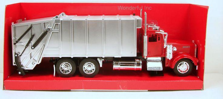 "NewRay Kenworth W900 Garbage Recycle truck 1:32 scale 13"" diecast N257 #Newray #Kenworth"