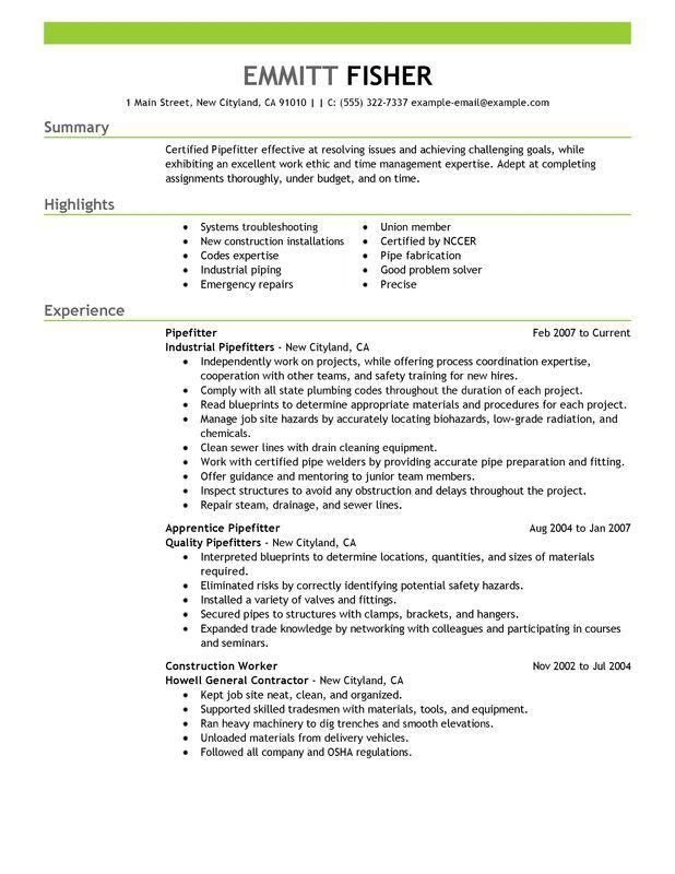 resume templates for apprenticeship