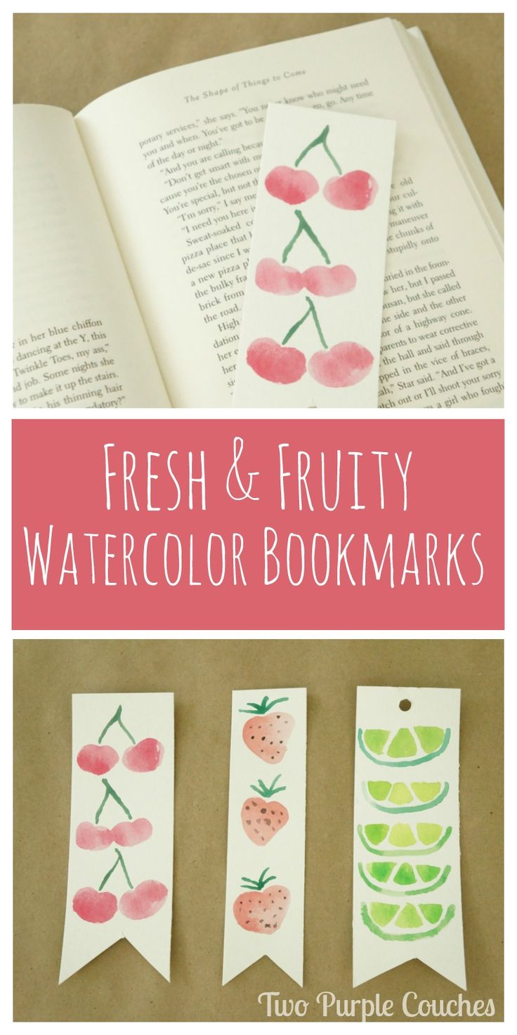 Watercolor bookmark patterns - Summer Fruits Watercolor Bookmarks
