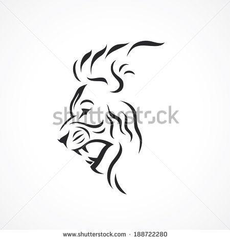66 best Lion siluets graphic tatoo .. images on Pinterest ... Simple Lion Designs
