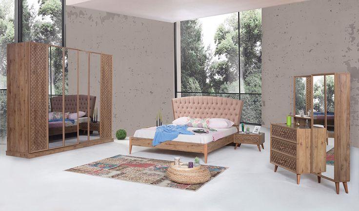 inegöl mobilya Rozela Yatak Odası Takımı (Ceviz)