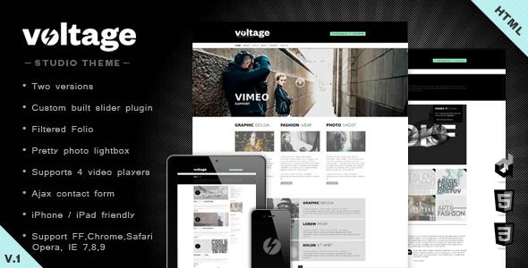 Voltage Minimalist Studio Html 5 Template
