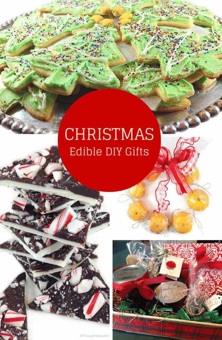 Best diy edible christmas gifts cookies peppermint bark for Edible christmas gifts to make in advance
