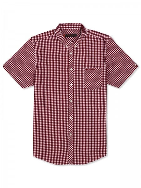 Classic House Gingham Check Shirt:  Classic house gingham check shirt features our one finger button down collar, bias cut front button placket and left chest spade pocket with toned embroidered Ben Sherman logo on pocket
