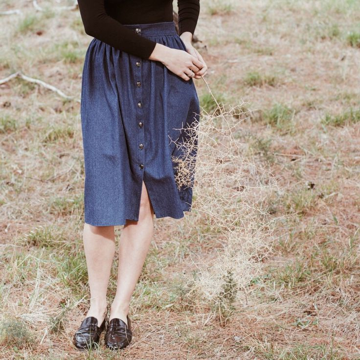 """""""Philippa"""" is a classic and denim skirt, a must-have piece and everyday wear."""