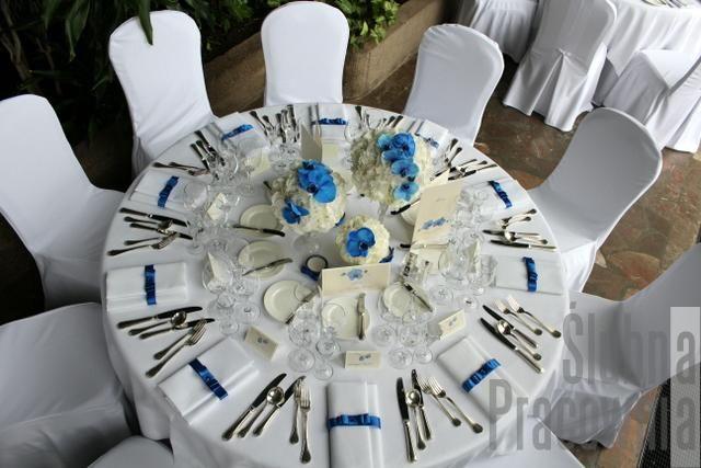 aranżacja okrągłego stołu weselnego