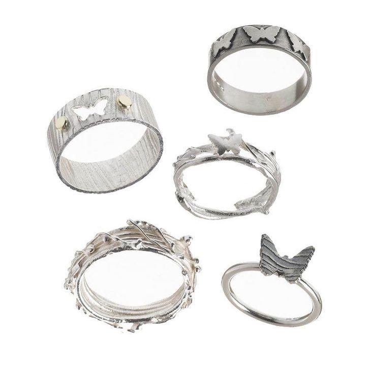 Silver butterfly rings #handmadejewelry #butterfly #butterflies #jewellery