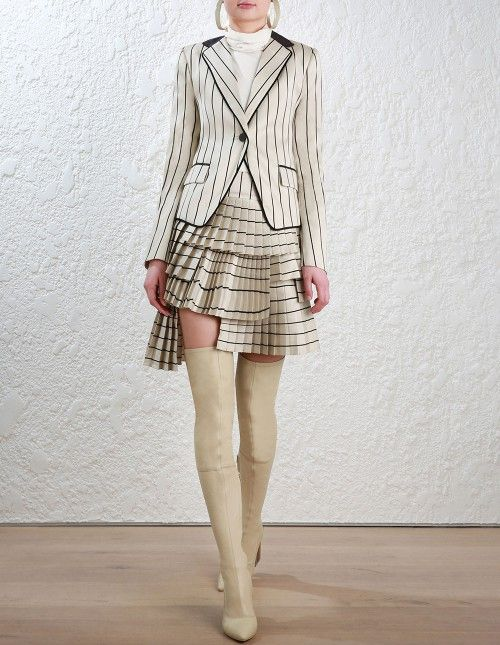 Zimmermann Maples Shrunken Jacket. Model Image. Our model is 5 9 5 and is wearing a size 0