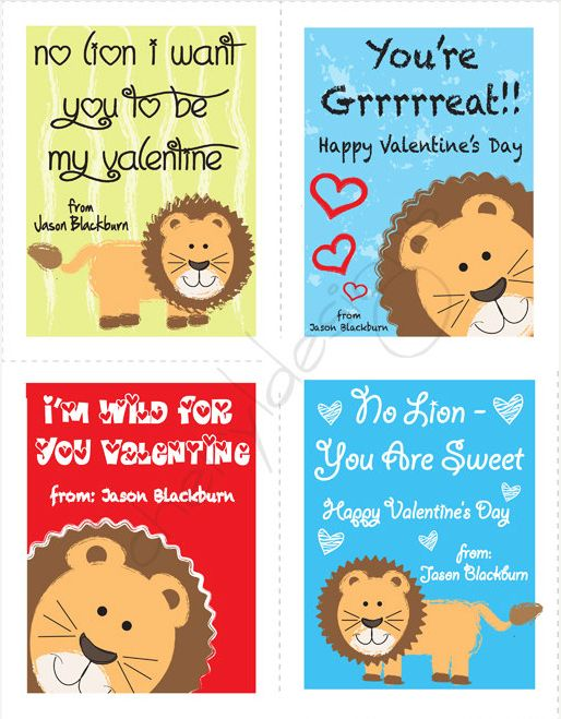 5 Printable Valentine S Day Cards On Etsy Com Valentine Ideas