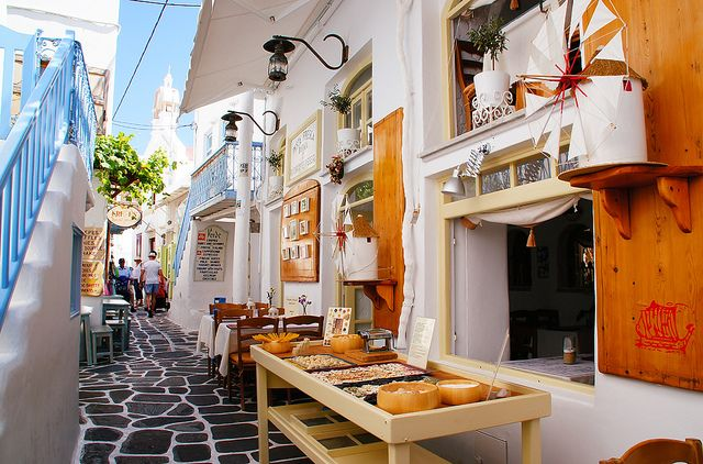 The Narrow Alley in Mykonos Greece | Flickr - Photo Sharing!