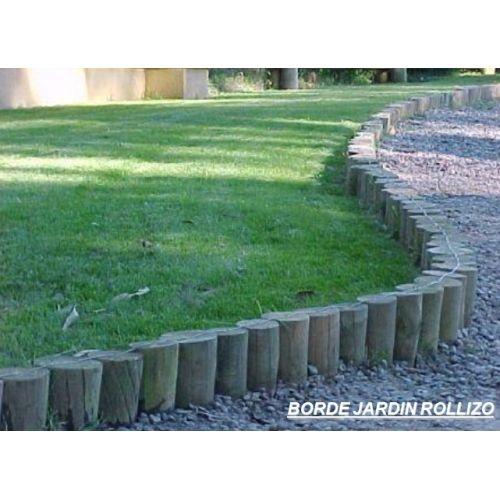 Cerco de polines buscar con google casa pinterest cercos patio y jardin y jardiner a - Cierres de jardin ...