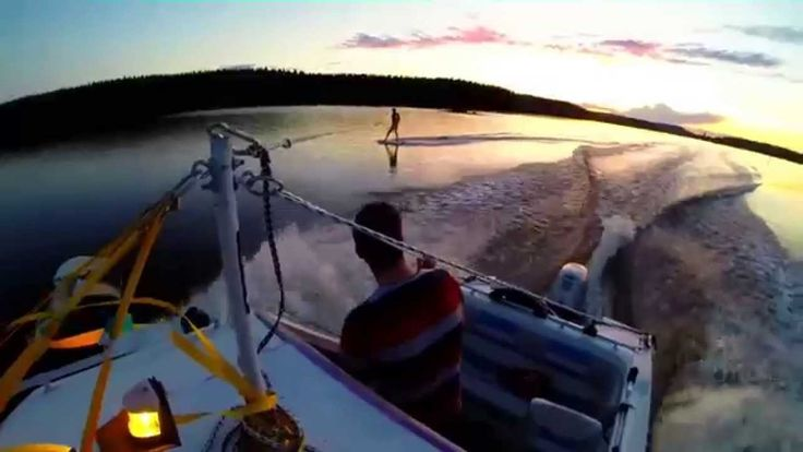 #Wakeboarding on lake Kallavesi, Kuopio, Finland.