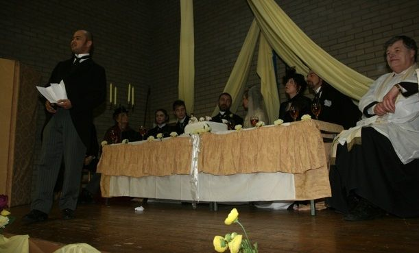 Bram has some explaining to do, after his best man makes the speech.    Photo by the Church of Ireland