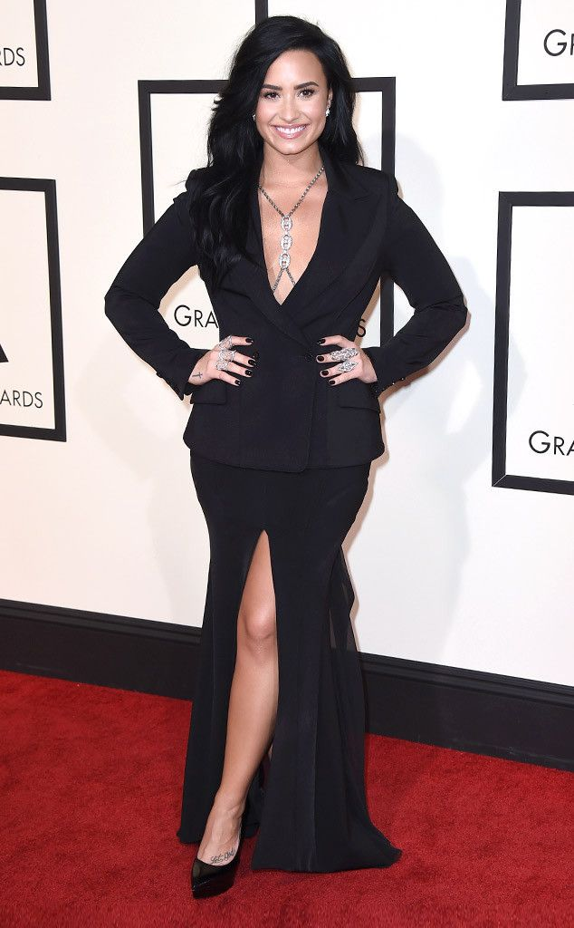 Say What?! Demi Lovato Reveals She's Never Been to the Grammy Awards Until Now—Find Out Why!  Demi Lovato, 2016 Grammy Awards