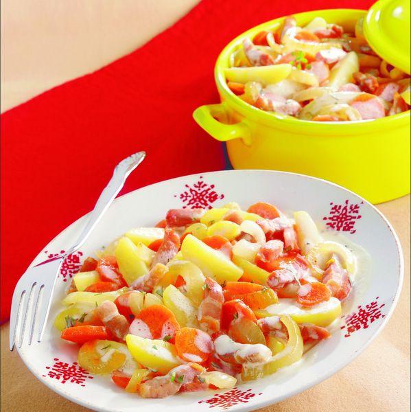 WeightWatchers.fr : recette Weight Watchers - Ragoût de pommes de terre aux carottes