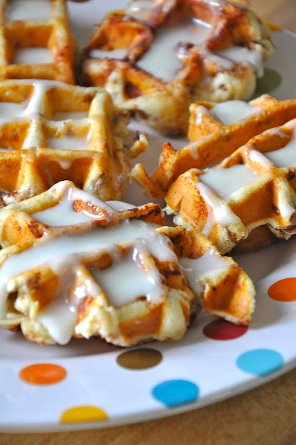 Cinnamon rolls in a waffle maker! I would never have thought of this,looks so easy and oh so delicious.