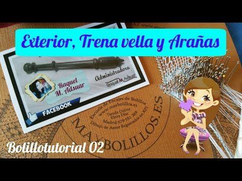 Babero de Encaje de Bolillos. Exterior y Arañas Entrelazadas. Bolillotutorial 02. Raquel M. Adsuar - YouTube