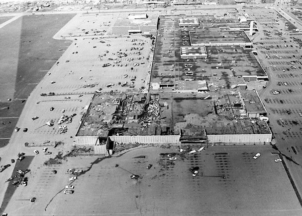 A File Photo Shows Damage To The Sykes Senter Mall