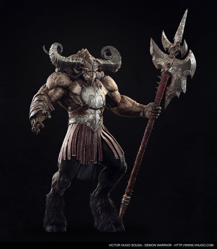 VictorHDon ZBC | Demon Warrior      I've finished this piece that I've started in an online workshop with Rafael Grassetti and I've tried to give it as much as Blizzard's Diablo look as I could. Demon concept by Thiago Almeida and weapon concept by Blizzard(Diablo's 3 Female Barbarian Concept).      Soon I will post more images =).       Hires image: http://vhugo.com/stills/newstills/DEMON_FINAL_POSE.jpg
