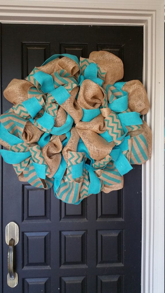 Check out this item in my Etsy shop https://www.etsy.com/listing/288740229/burlap-wreath-front-door-wreath-teal