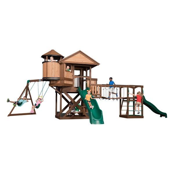 Backyard Discovery Playsets - Timber Cove Wooden Swing Set#features