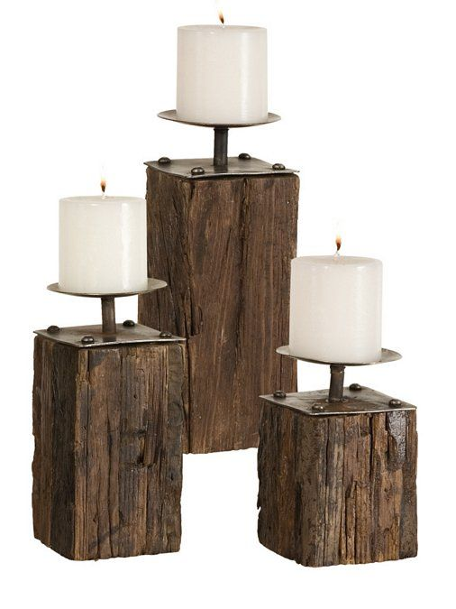 Rustic repurpose - #recycled candleholders