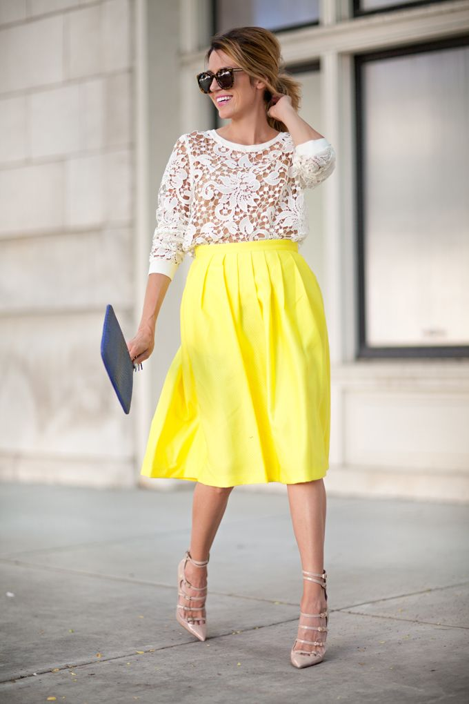 Yellow Midi Skirt | skirt ideas | Pinterest | Hello fashion blog Skirts and New york