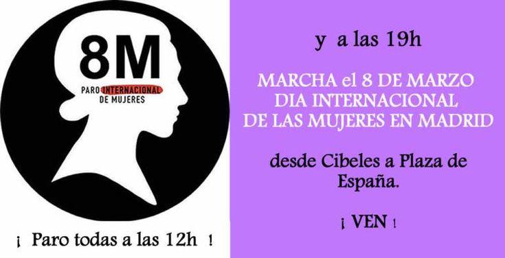 El Movimiento Feminista de Madrid convoca la manifestación del 8 de marzo | Tribuna Feminista