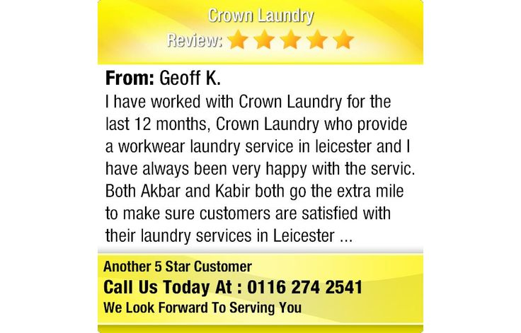 I have worked with Crown Laundry for the last 12 months, Crown Laundry who provide a...