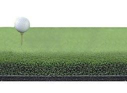 "Exclusive Pro Hitting Strip 10"" x 30"" Golf Mat - 2 inches Thick - Holds A Wooden Tee"