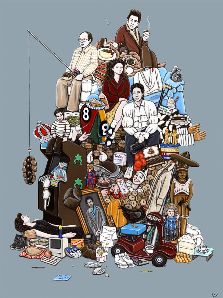 Every little thing in this illustration has a story. #Seinfeld