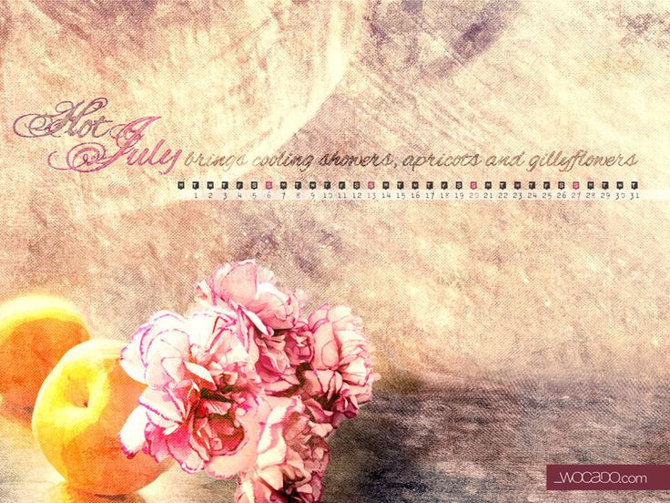 ★★★ JULY Free Calendar Wallpaper ★★★ by  wocado.com DOWNLOAD : http://wocado.com/july-2014-wallpaper-calendar/ Celebrating the month of July, the month I was born, I am introducing a new series of monthly calendar wallpapers for all Wocado Friends