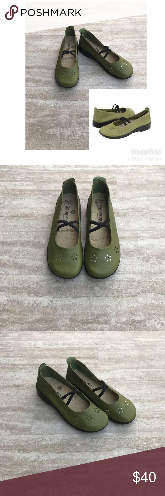 Arcopedico Flower Green Slip On Shoes New with box, very comfortable shoes Arcopedico Shoes