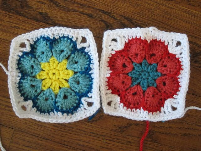 Crochet Granny Square African Flower Pattern : african flower square crochet Pinterest