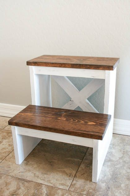 With a single 1x8x8' board, you can create a beautiful and functional project! This step stool was easy to build and the free plans are included.
