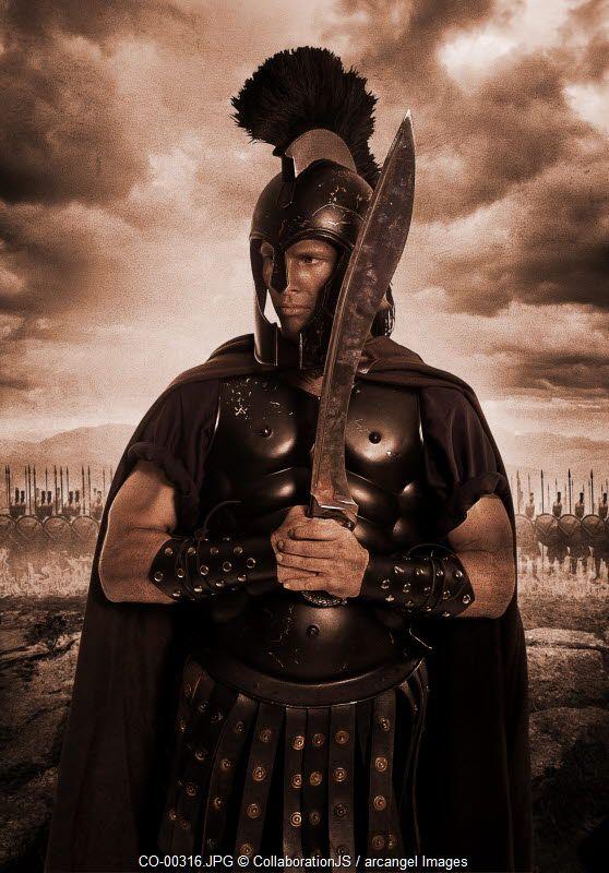 A spartan warrior © CollaborationJS / Arcangel Images