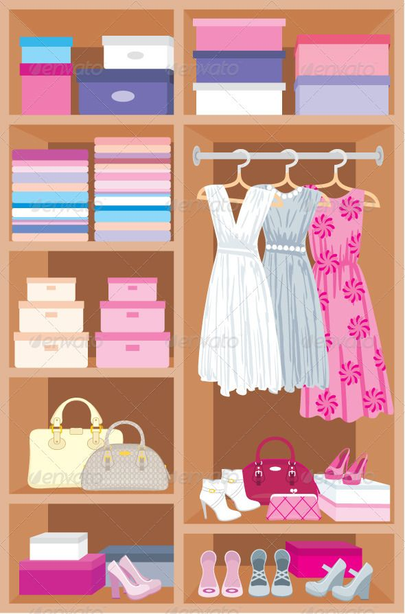 Wardrobe room. Furniture Shelves, Wardrobes and Wardrobe
