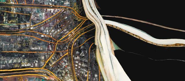 'Motorway/city' by Robert Ellis