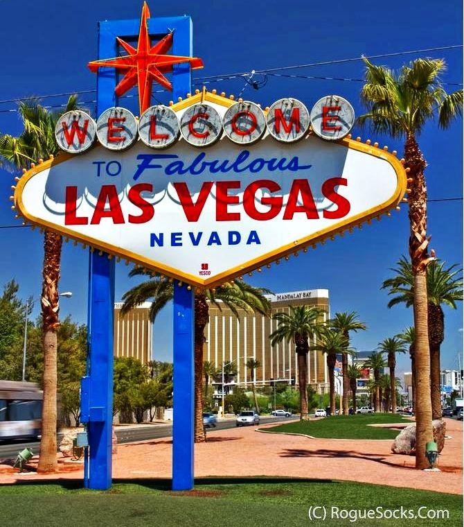 "✔️ Famous Las Vegas sign as you drive down the ""strip"", Las Vegas Blvd. - Rogue Socks Photography"
