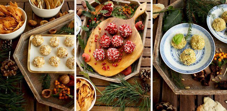 Party Сырные шарики: 3-убийцы 10-минутные рецептов.  Великий закуски, чтобы служить на вечеринках вместе с крекеров, чипсов или багета.  Легкий и впечатляющий закуску!