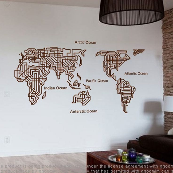 1596 best wall stickers images on pinterest wall clings wall world map wall stickers large new design maze art pattern creative map wall decals vinyl decals gumiabroncs Gallery