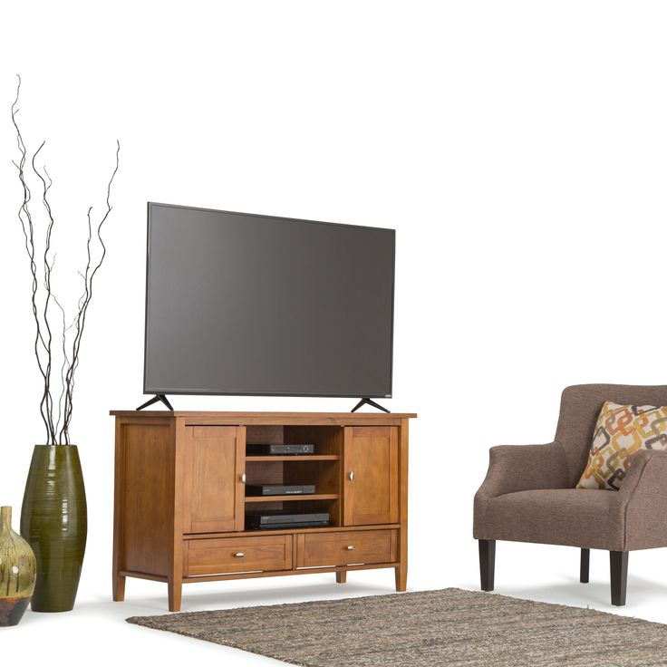 WYNDENHALL Norfolk TV Media Stand for TV's up to 55 Inches   Overstock.com…