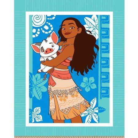 Disney Moana and Friend, No Sew Micro Fleece Throw Kit, Teal - Walmart.com